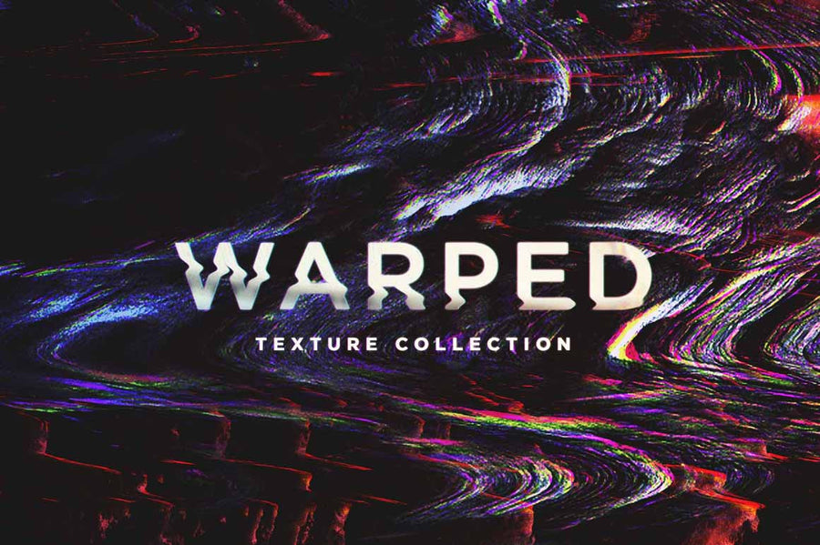 Warped Distortion Glitch Textures - Collection - RuleByArt