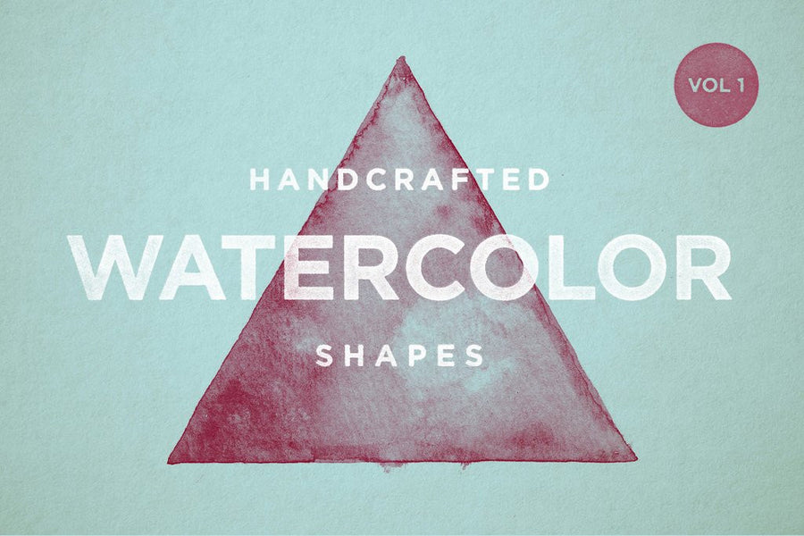Watercolor Shapes Vol.1 - Collection - RuleByArt