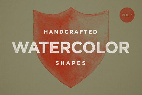 Watercolor Shapes Vol.3 - Collection - RuleByArt