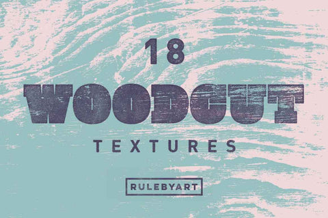 Woodcut Vector Textures - Collection - RuleByArt