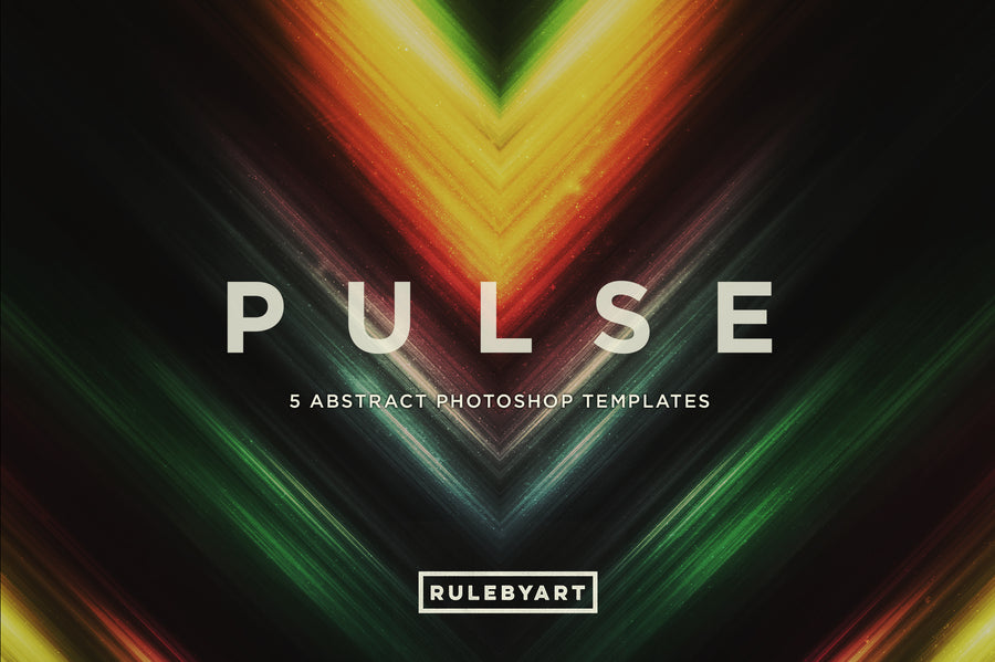 Pulse Abstract Light Photoshop Templates - Collection - RuleByArt