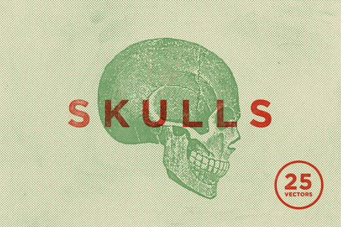 Vintage Skull Vector Illustrations - Collection - RuleByArt