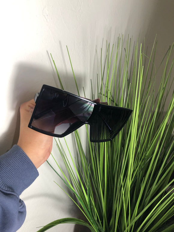 Large Flat Top Retro Sunglasses