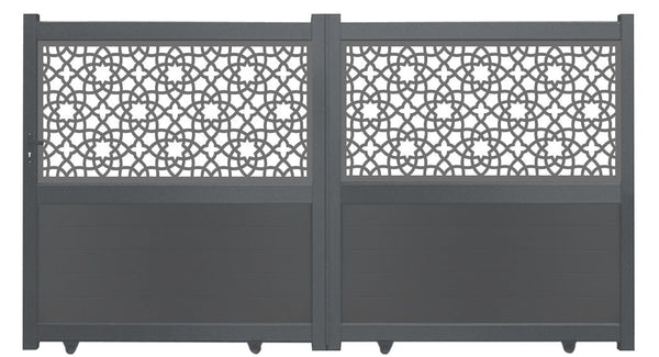 Portail Alhambra - Coulissant - Anthracite