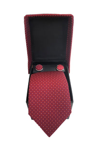 POPIN NECKTIE AND MATCHING CUFFLINK SET / COMBO FOR MEN'S ACCESSORIES FOR BLAZER , SUIT AND TUXEDO