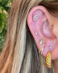 stacked lobe and ear project by junipurr jewelry
