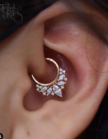 ultimate daith or septum piercing jewelry - elite ring by buddha