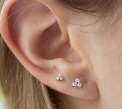 small and large trinity gems in lobes