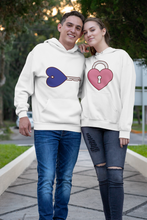 Load image into Gallery viewer, QlaxiQ Valentine Key Heart Lock Pullover Love Hoodie Sweater
