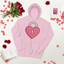 Load image into Gallery viewer, QlaxiQ Valentine Heart Lock Pullover Hoodie Sweater