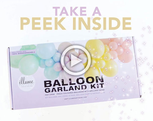 TAKE A PEEK INSIDE- Balloon Garland DIY Kits
