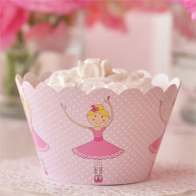 Ballerina Cupcake Wrapper - Pack of 12