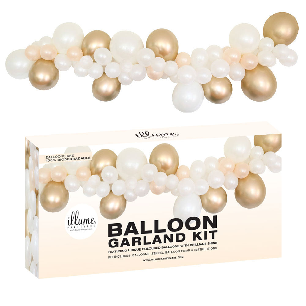 Balloon Garland Kit DIY - Gold & White