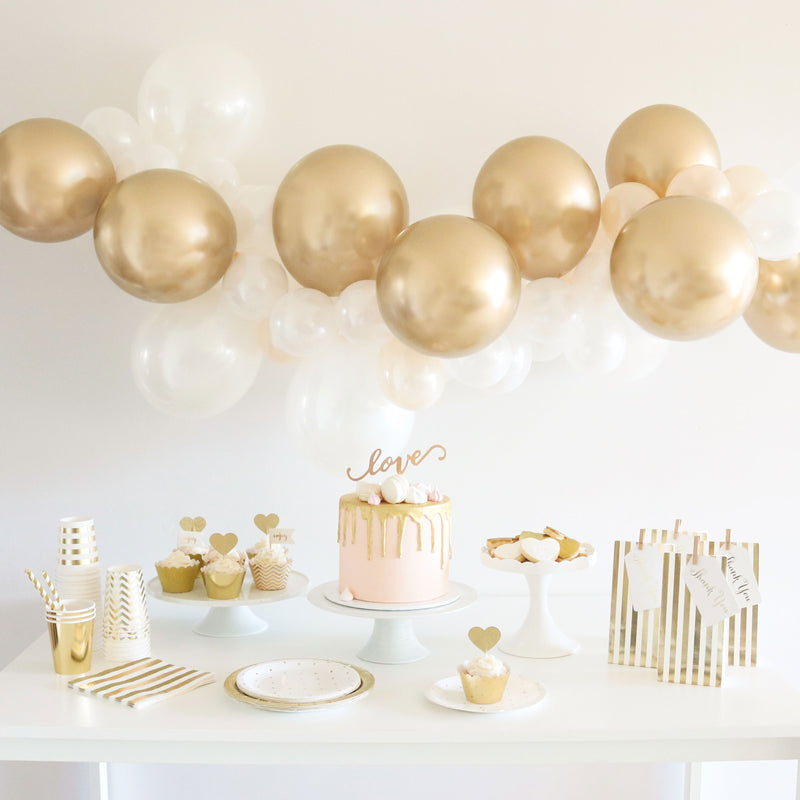 Balloon Garland Kit DIY - 金& White
