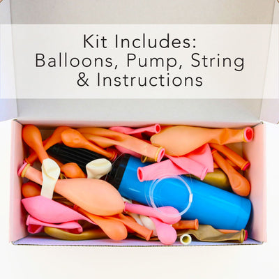 Balloon Garland Kit - PINK & GOLD - with FREE Partyware