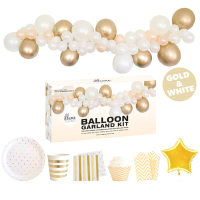 Balloon Garland Kit - GOLD - with FREE Partyware