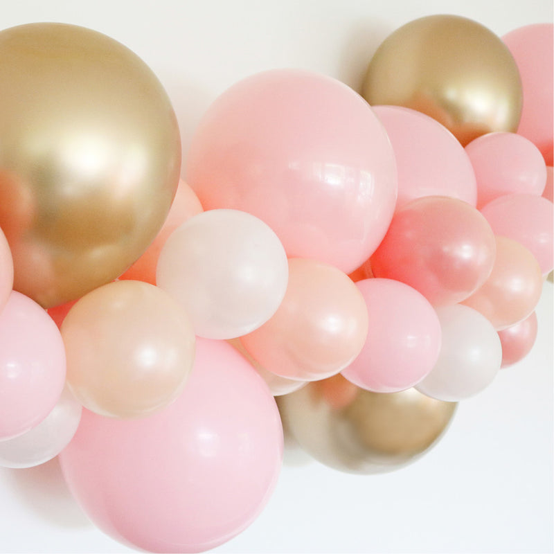 Balloon Garland Kit DIY - 粉& 金
