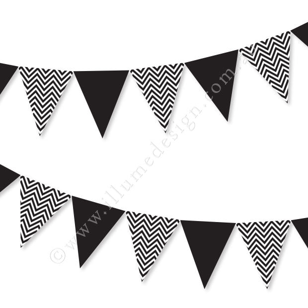Chevron Black Bunting