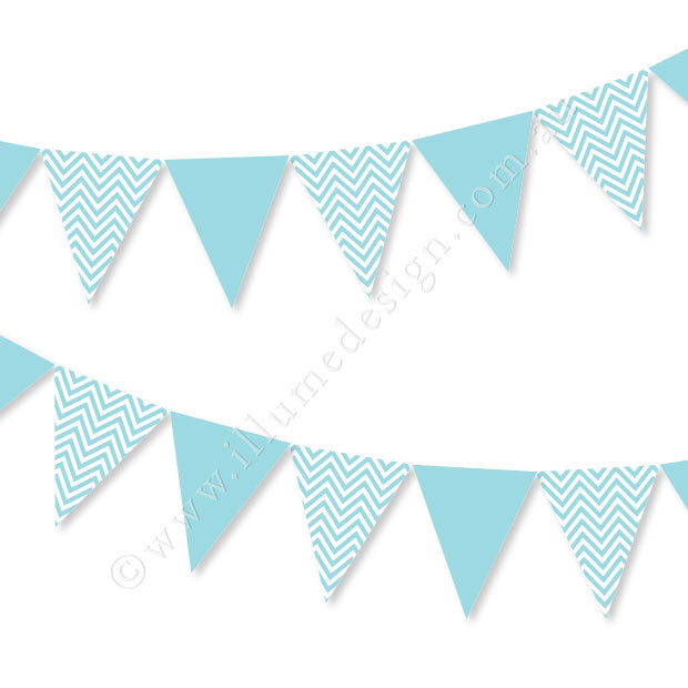 Chevron Blue Bunting