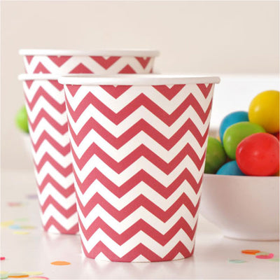 Chevron Red Cup - Pack of 12