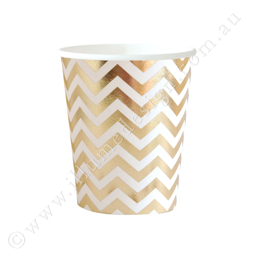 Chevron Gold Cup - Pack of 10