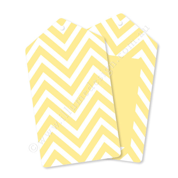 Chevron Yellow - Tag - Pack of 12
