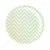 Chevron Green Dessert Plate - Pack of 12