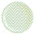Chevron Green Large Plate - Pack of 12