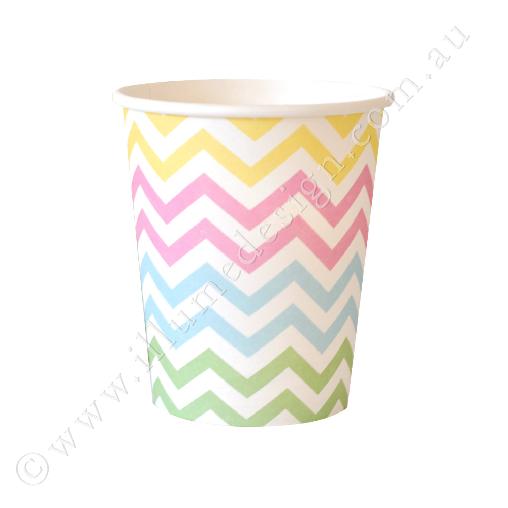 Chevron Pastel Cup - Pack of 12