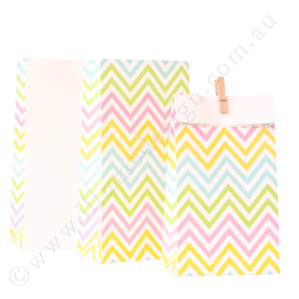 Chevron Pastel Treat Bag - Pack of 12
