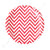 Chevron Red Dessert Plate - Pack of 12