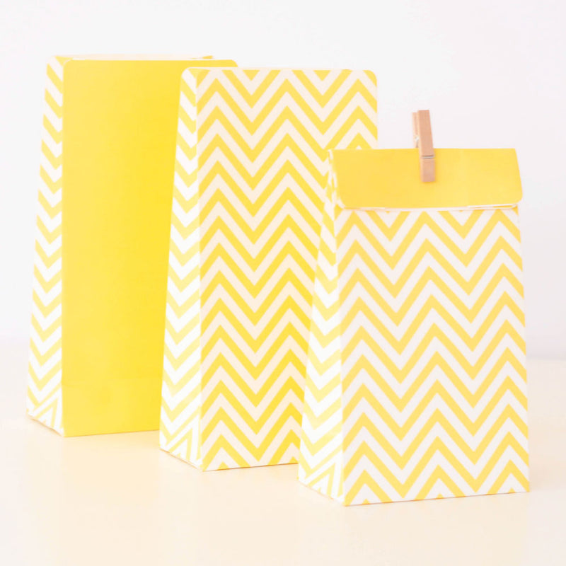 Chevron Yellow - Treat Bag - Pack of 12