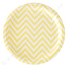 Chevron Yellow Large Plate - Pack of 12