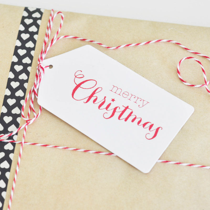Merry Christmas White Tag - Pack of 12