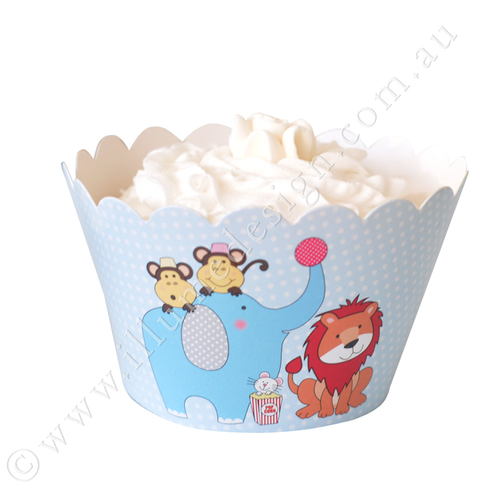 Circus Animals Cupcake Wrapper - Pack of 12