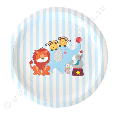 Circus Animals Large Plate - Pack of 12
