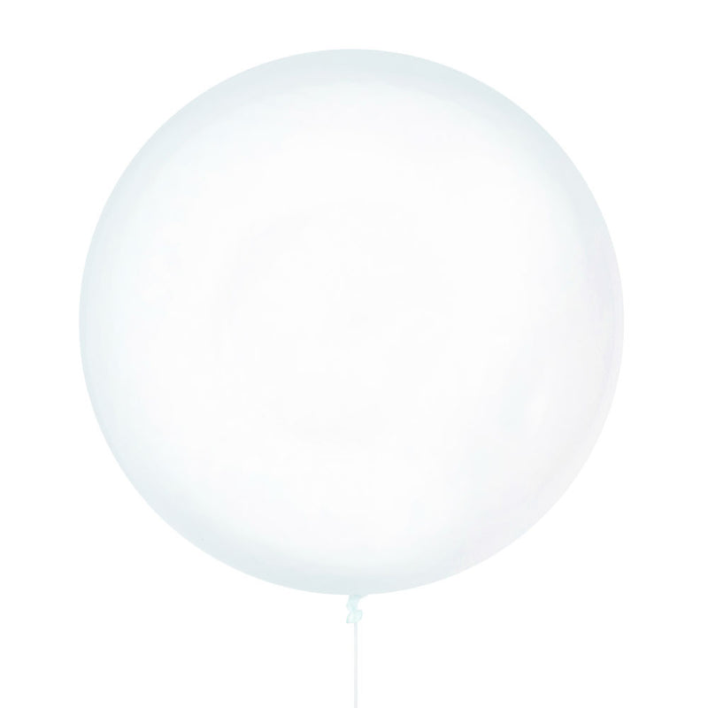 Clear Jumbo Latex Balloon - 90cm - 3ft