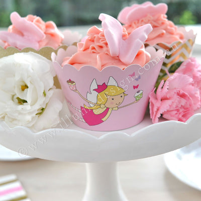 Fairy Garden Cupcake Wrapper - Pack of 12