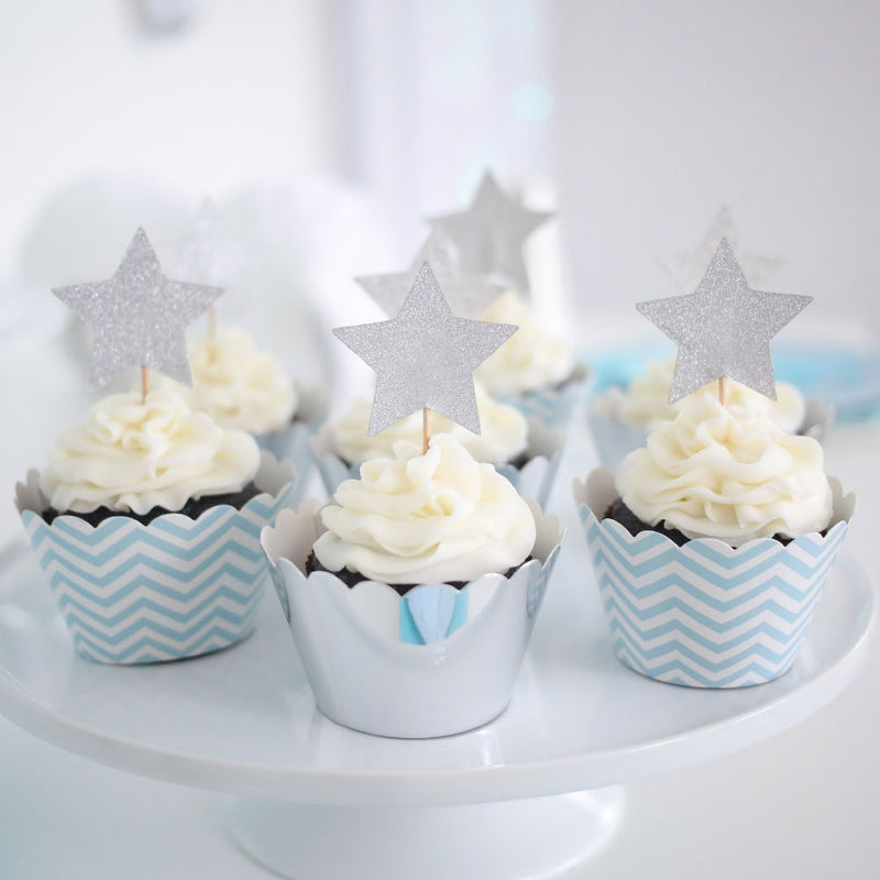 Silver Foil Cupcake Wrapper - Pack of 12
