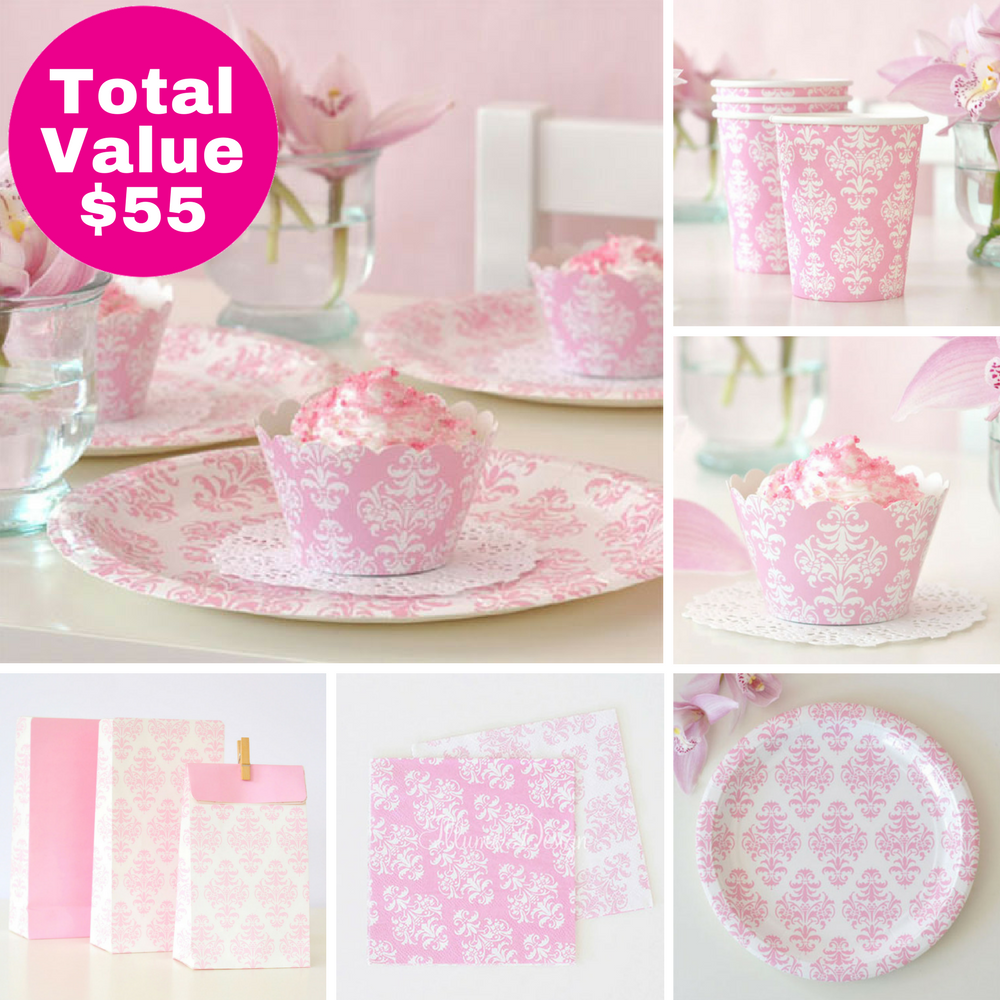 Damask Party Saver Package - 12 Pack
