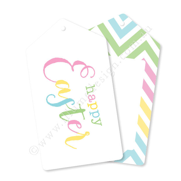 Pastel Easter Tags - Pack of 12