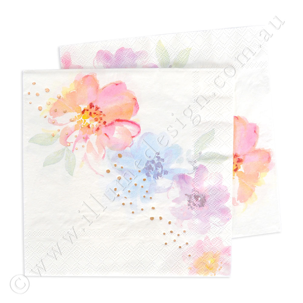 Floral Luncheon Napkin - Pack of 20