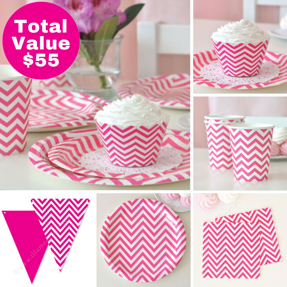 Hot Pink Party Saver Package - 12 Pack