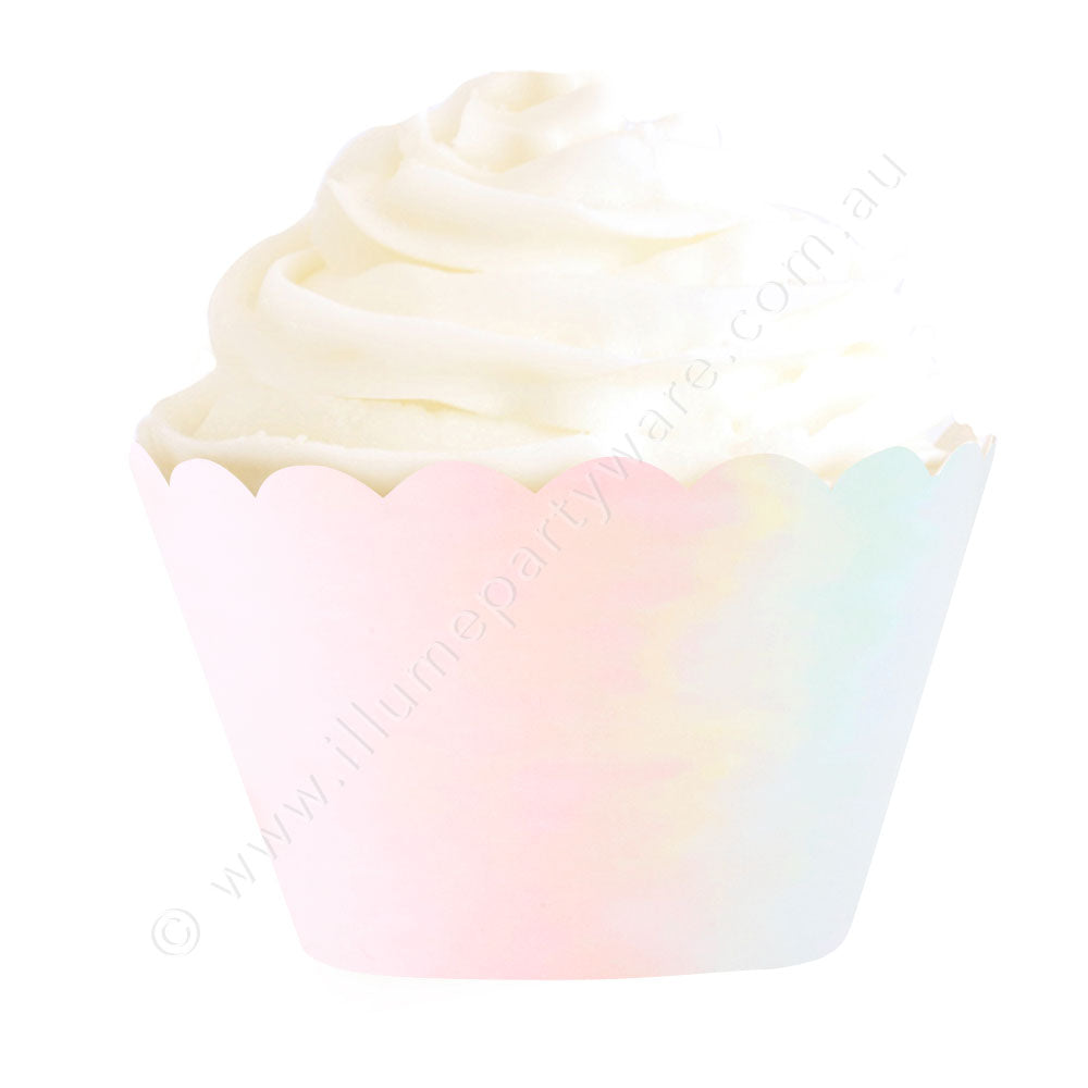 Iridescent Foil Cupcake Wrapper - Pack of 12