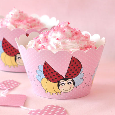 Lady Beetle Cupcake Wrapper - Pack of 12