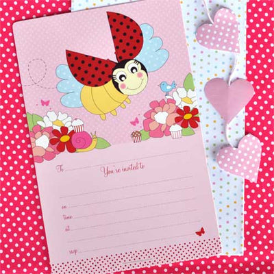 Lady Beetle Invite - Pack of 12