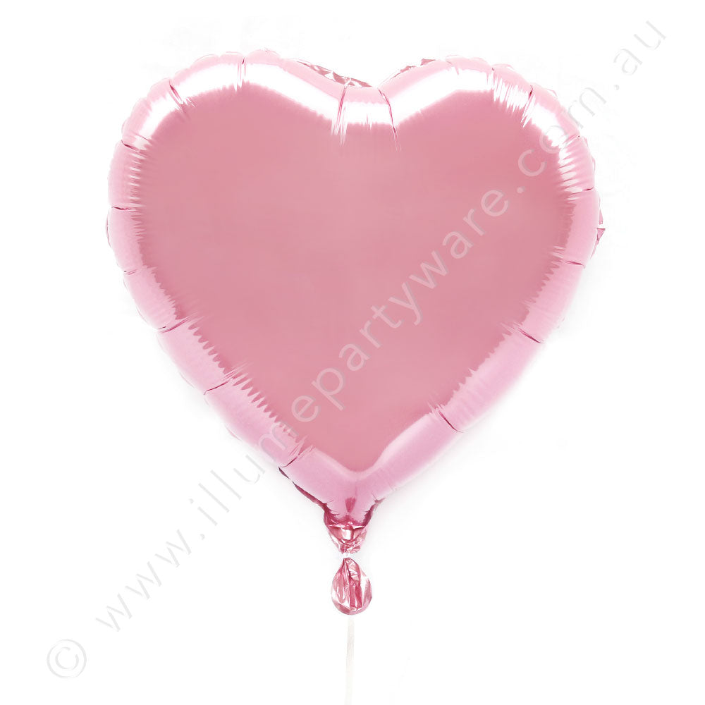 "Light 粉18"" Foil Heart Balloon"