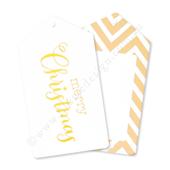 Gold Merry Christmas Tags - Pack of 12