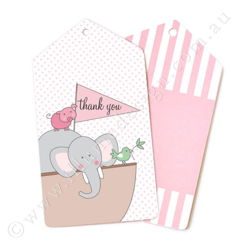 Noahs Ark Pink Tag - Pack of 12