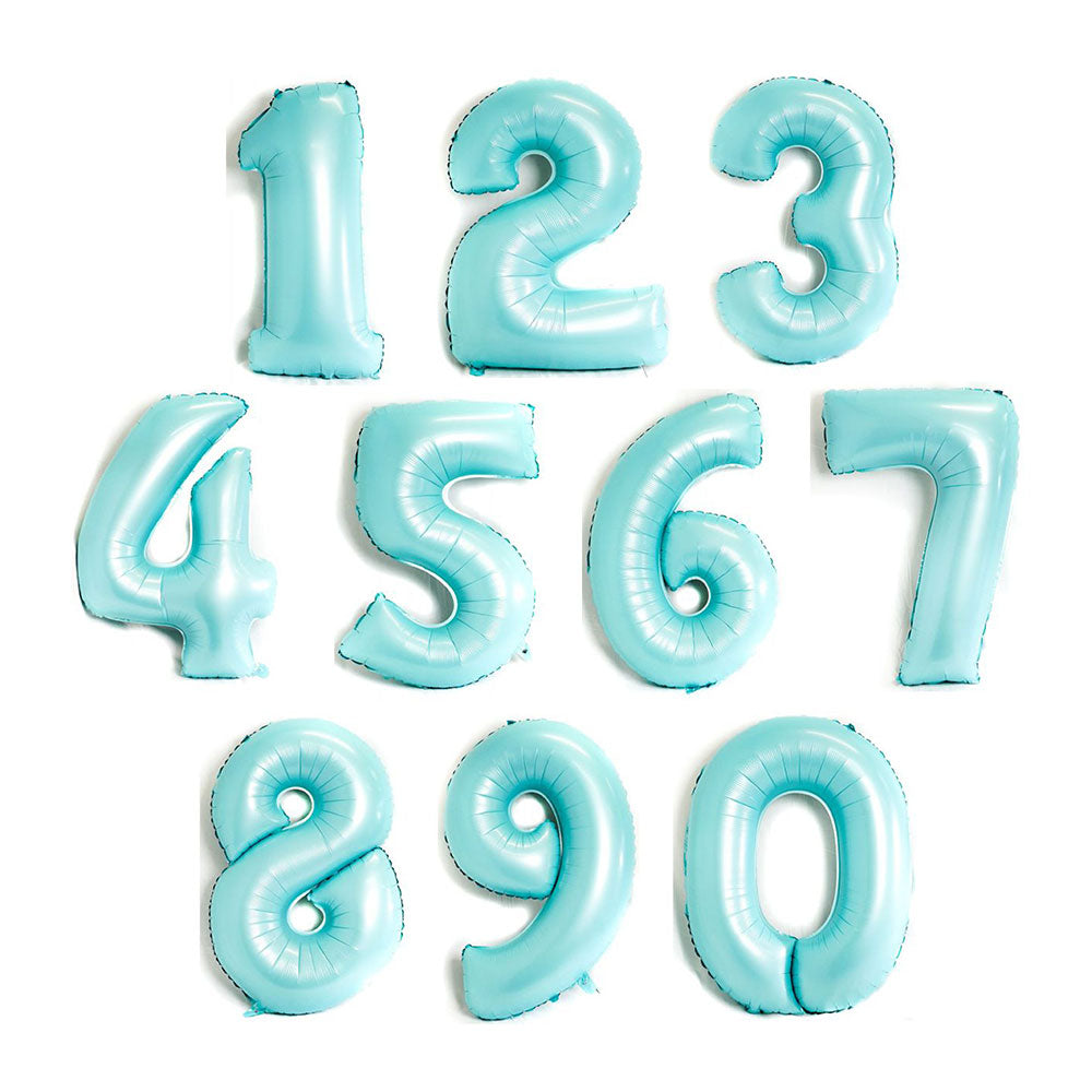 Matt Light Blue Giant Number Balloon